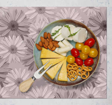 Decorate every place in your house, including the table. This rectangular placemat with flowers is just perfect for you.