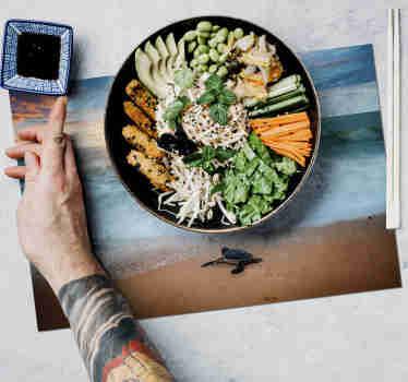 Spise et fredelig måltid i hjemmet ditt med disse fantastiske stedekortene med skilpadder. +10 000 fornøyde kunder.