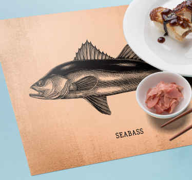 Rectangle table mats with the image of the seabass on the vintage paper will look fantastic on any table. Made out of high quality vinyl!