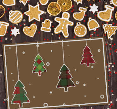 Christmas vinyl placement mat to decorate the table space in the kitchen and dining room. It is comfortable to use of high quality.