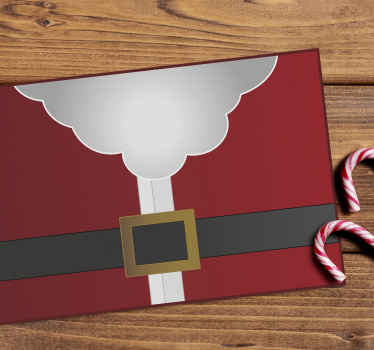 Vinyl placement mat for home with a Santa clause clothe costume design. It is made of quality pvc and comfortable to use.