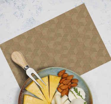 用于家庭和餐厅餐桌空间装饰的竹制芦苇质餐垫。它易于维护和抗过敏。