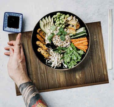 您确定要一个独特的餐桌垫,以在用餐时营造出可爱的氛围。购买我们高质量的木质质感现代餐垫。