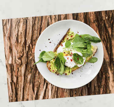 A decorative place-mat with texture of a tree bark design.  A product for your home dinning tables space and for restaurants.