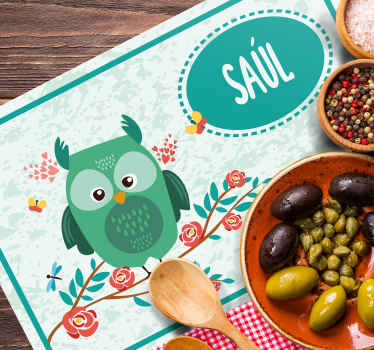 Order our personalised name vinyl placemats online for your home and restaurant business place. It is made of high quality material.