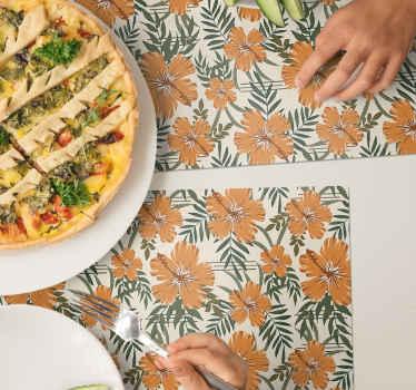 Buon appetito con questa tovaglietta in vinile ornamentale progettata con stampe di piante floreali ornamentali. è fatto con materiali di buona qualità.