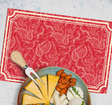 A square design place mat for home and restaurants featured with paisley design. The product is of high quality material and very easy to maintain.