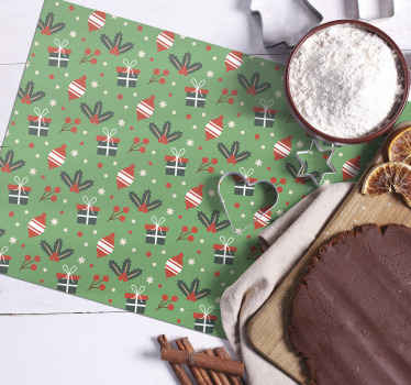 Order our featured Christmas place mat online to receive it in few working days. The product is featured with gift boxes, stars and other designs.