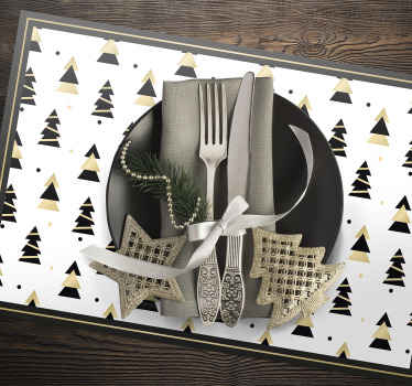 An  elegant tree pattern placemat for home, restaurant and any other space. It is original and made with best quality material. Available in pack sets.