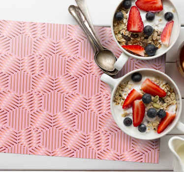 Original place mat with pink patterns, a perfect decoration for insect lovers. They are resistant and durable and are made of high quality material.