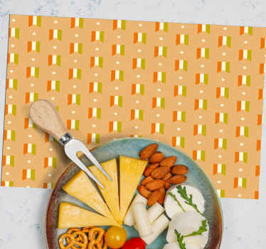 An elegant placemat with irish flag pattern for home, restaurant and any other room. It is original and made of the best material. Available in sets.
