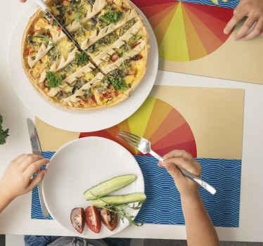 Um cenário vintage para o pôr do sol e o mar para dar a sua mesa de jantar a melhor aparência e proteção. Produto de vinil de alta qualidade entregue na sua porta.