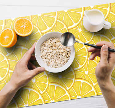 rectangular placemat perfect for breakfast, lunch or dinner. Orange Pattern vinyls place mats for household table and office table