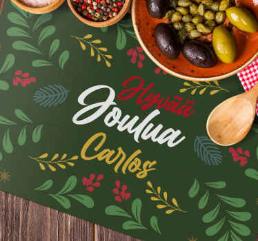 Bring some customization into your house with these amazing customized dinner mats! Don't wait any longer and order this amazing placemat now!