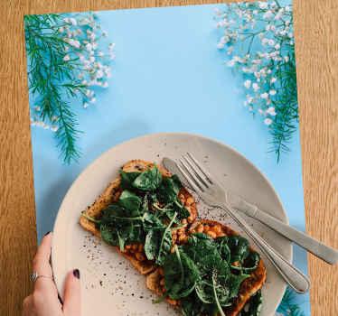 Sets de table originaux en sticker avec sticker fleuri si vous pensez avoir besoin d'une nouvelle décoration pour votre table à manger?