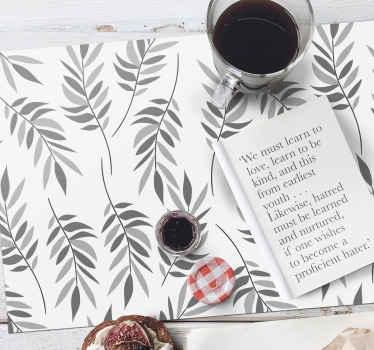 Dekorieren Sie Ihren Tisch mit den Tischsets aus grauen blättern und verwenden sie sehr lange wieder. Sie sind sehr langlebig und leicht zu waschen.