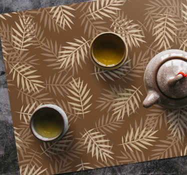 Now we have a very classic and ornamental place mat with some palm tree leaves 