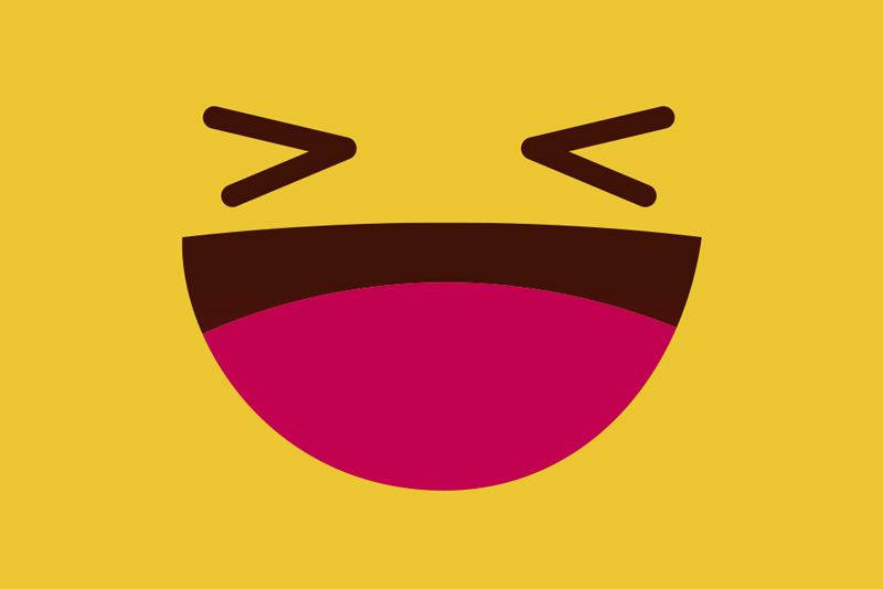 TenStickers. Modern emoji laughing face children vinyl placemats. Kids placemats with a huge smile on the yellow background are a high quality product that will transform your meals into a pleasureble experience!
