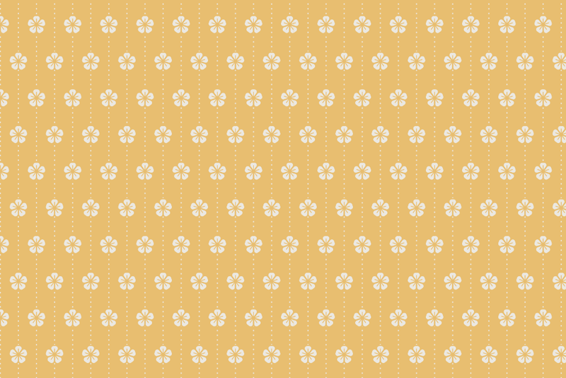 TenStickers. White flowers yellow floral vinyl placemats. Full of elegance rectangle table mats will perfectly fit to your kitchen or your dining room Design of flowers on the yellow background is perfect!