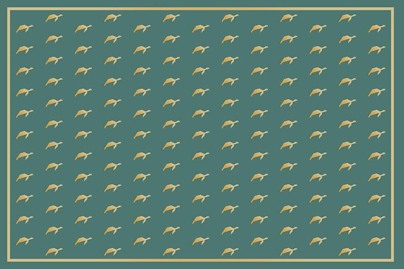 TenStickers. Geometrické želvy zelené vinylové prostírání. Pokud máte rádi zvířata a hledáte elegantní způsob, jak ozdobit váš stůl, pak jsou tyto vinylové prostírání s želvami ideální pro vás.
