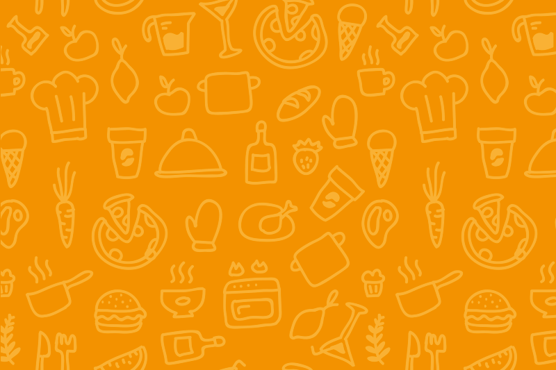 Tenstickers. Ruokailuvälineet oranssi pöytätabletti. Ihana oranssi pöytätabletti jossa on erilaisia keittiö välineitä. Korkealaatuinen materiaali joka kestää kauan aikaa.