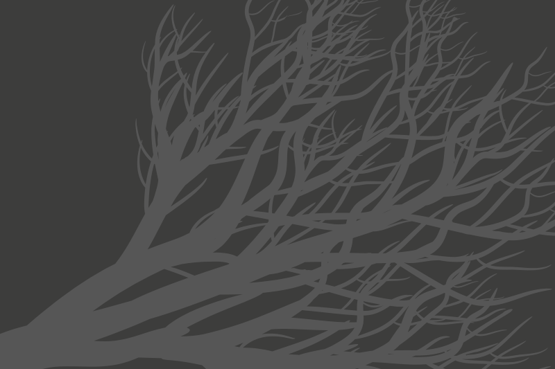 TenStickers. Individuais de mesa elegantes Folha cinza elegante. Desfrute do seu chá, café e refeição no nosso elegante tapete americano de cor cinza com um desenho de árvore ornamental. O produto é ideal tanto para casa como para restaurante.