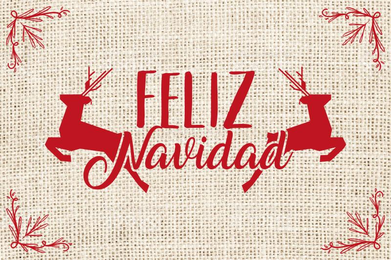 """TenVinilo. Mantel individual navideño frase feliz navidad. Salvamanteles navidad de ciervos con frase """"feliz navidad"""" para decorar tu mesa en una fecha tan señalada. Alta calidad ¡Envío a domicilio!"""