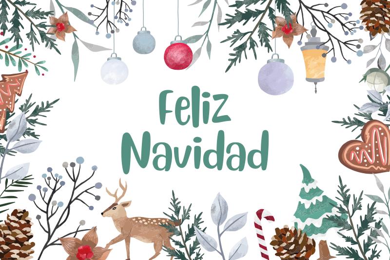 """TenVinilo. Mantel individual frase con texto navidad . Mantel individual navideño para restaurante y uso doméstico. Se presenta con elementos navideños ornamentales y texto """"feliz navidad"""" ¡Envío exprés!"""