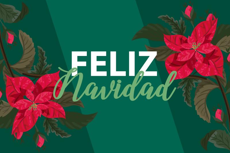 TenVinilo. Mantel individual feliz navidad flores rojas. Mantel individual feliz navidad de flores tanto para hogares como para restaurantes. Es original, duradero y fácil de mantener ¡Envío exprés!