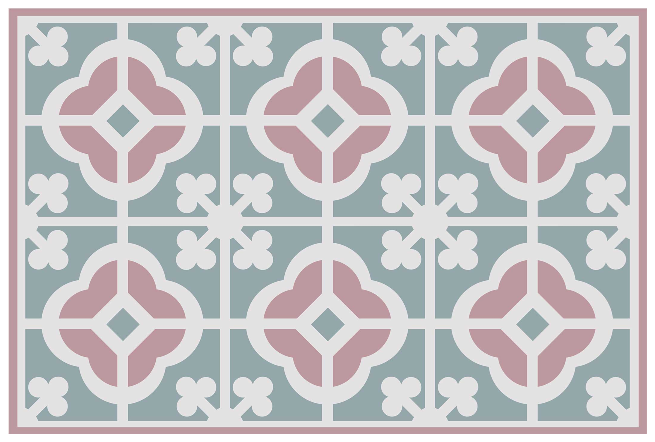 TenStickers. Pastel cement tiles home vinyl placemats. Design of pastel tile style home place-mat to decorate your dinning table space with a classic touch. It is easy to maintain and made of good quality.