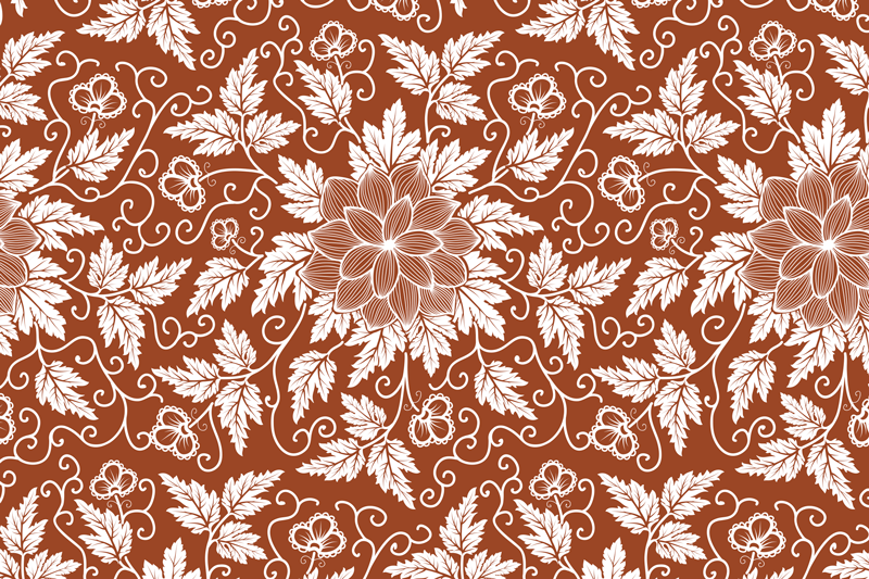 TenStickers. Set de table marron au motif floral paisley. Beau set de table tendance au motif paisley coloré sur fond marron. Il est facile à entretenir, à stocker et anti-allergique.
