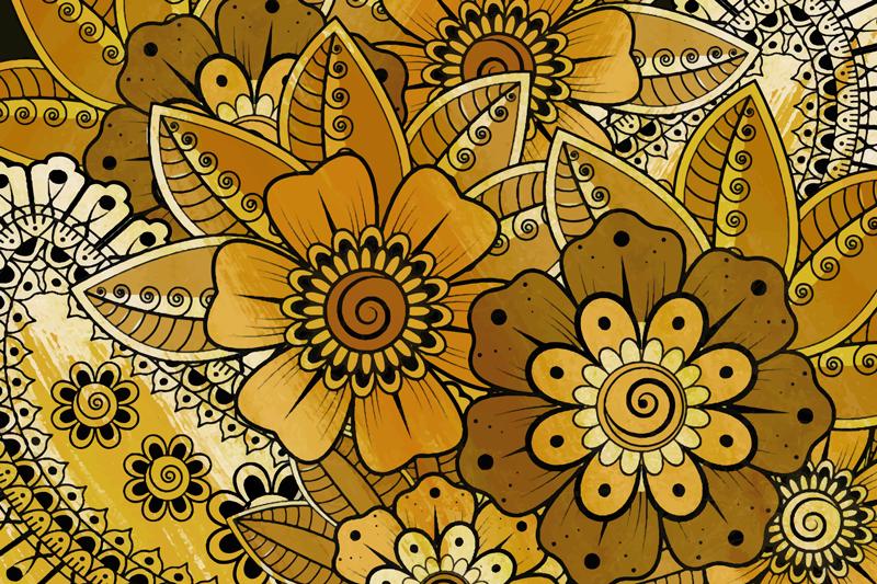 TenStickers. Paisley indický styl paisley vinylové prostírání. Pojďme ozdobit váš stolní prostor novým stylem prostírání z paisley vyrobeného z vysoce kvalitního materiálu. Snadno se čistí a je alergický.