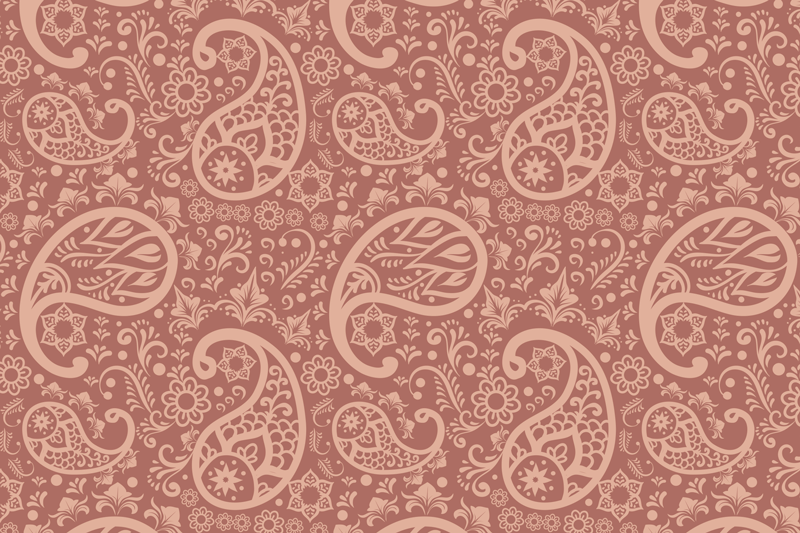 TenStickers. Paisley Pattern paisley vinyl placemats. A place-mat with paisley design to give any table or dinning space a lovely and classic dressing.  It is available in different pack sets.