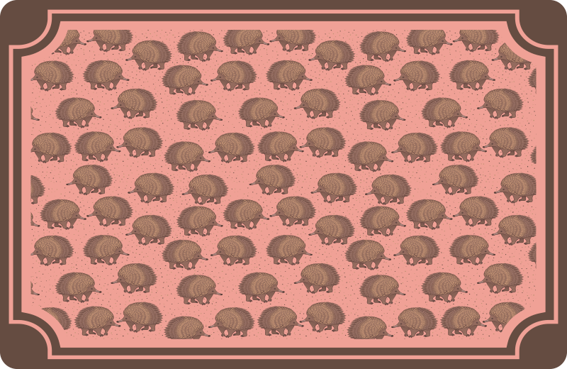 TenStickers. Porcupine and dots hedgehog vinyl placemats. Beautiful decorative place-mat for home with the design of porcupines on subtle coloured background. The product is easy to maintain.