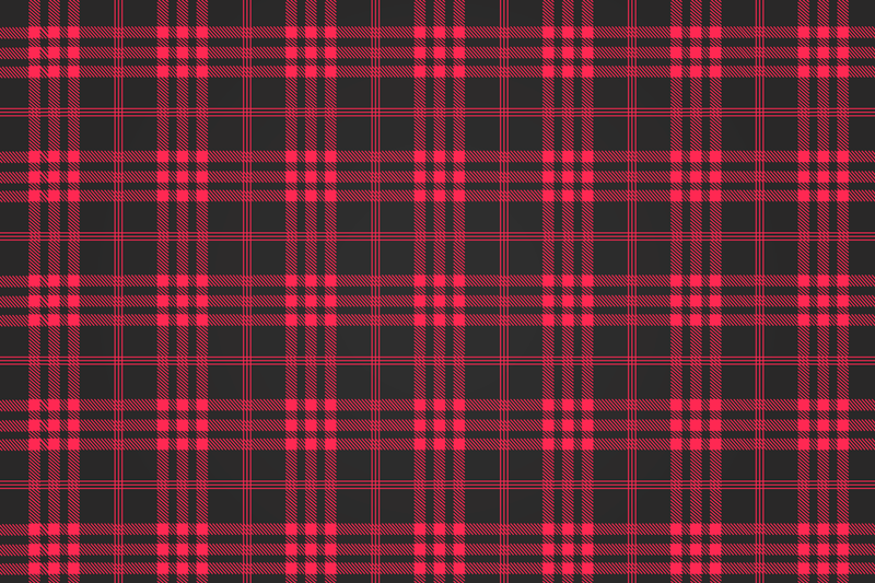 TenStickers. Red Tartan Christmas table mats. Christmas placemat which features a classic tartan pattern in lovely shades of black and red. Made from the best quality materials.