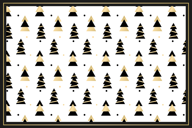 TenStickers. Elegant tree pattern Christmas vinyl placemats. An  elegant tree pattern placemat for home, restaurant and any other space. It is original and made with best quality material. Available in pack sets.