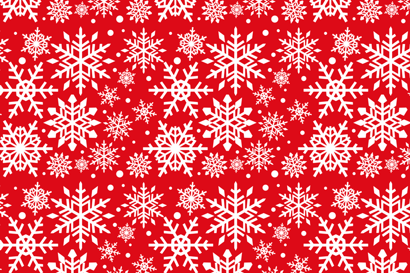 TenStickers. Red snowflakes Christmas vinyl placemats. Red snowflakes Christmas place mats design. Made in rectangular shape and it would serve all your table service decorative purpose for Christmas.