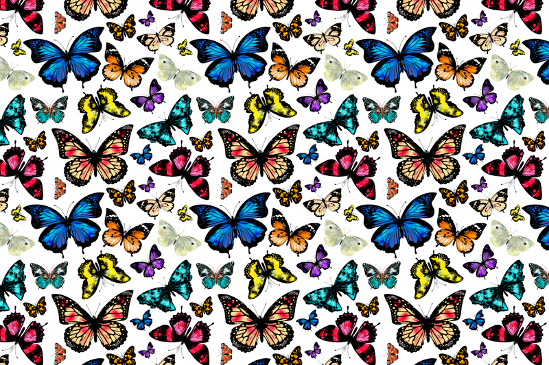TenStickers. Beautiful and Colorful butterflies butterfly table mats. Original placemats with a bunch of flying butterflies. Perfect decoration for your kitchen table. Made of high quality vinyl.