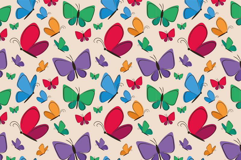 TenStickers. butterflies flying for kids butterfly table mats. Fun and colourful butterfly vinyl placemats perfect for every meal! Very easy to clean and great to protect your table with.