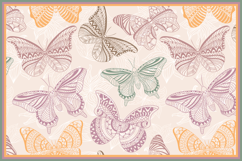 TenStickers. Colored ornamental butterflies butterfly table mats. Stunning butterfly dinner mats that will look incredible on your table. Easy to maintain and extremely protective to your surfaces.