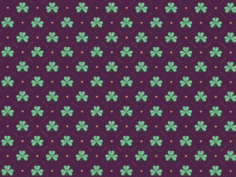TenStickers. Shamrock pattern  original vinyl placemats. An elegant shamrock pattern placemat for home, restaurant and any other room. It is original and made of the best material. Available in sets.