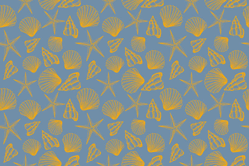 TenStickers. Undersea Pack shell placemats. Something lovely to get your eyes busy as you enjoy your mean on a table space. This rectangular placemat design is featured with different seashells.