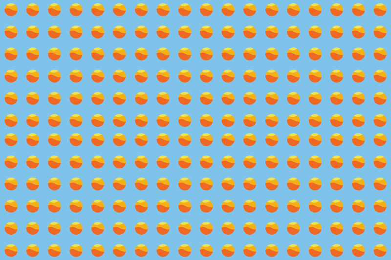 TenStickers. 70's Sun Pattern 70's sun vinyl placemats. Placemat with small retro suns, perfect as a decoration for your kitchen. Made of high quality material. 100% satisfaction.