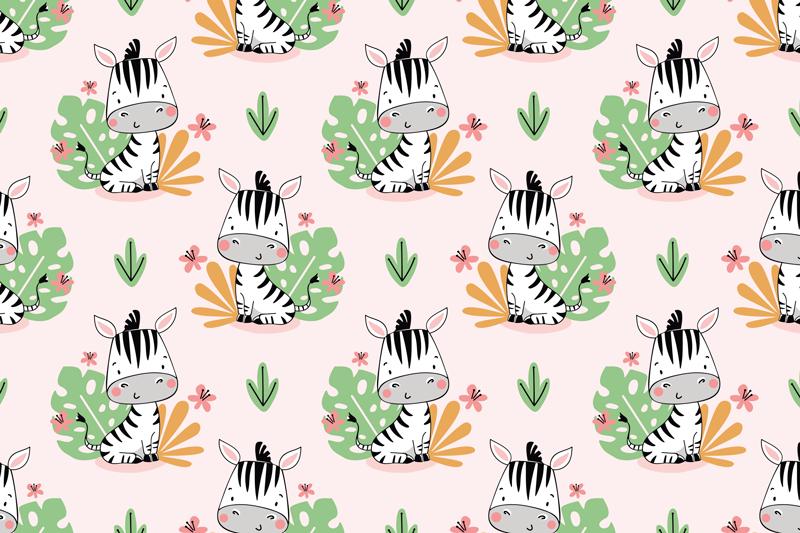 Tenstickers. Vakker sebra for barn sebraplattematter. Barne bordbrikke med gul bakgrunn og design zebras med treblader som vil fylle glede og ømhet i det øyeblikket babyens måltid er.