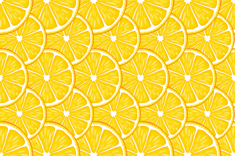 TenStickers. Orange Pattern citrus table mat. rectangular placemat perfect for breakfast, lunch or dinner. Orange Pattern vinyls place mats for household table and office table