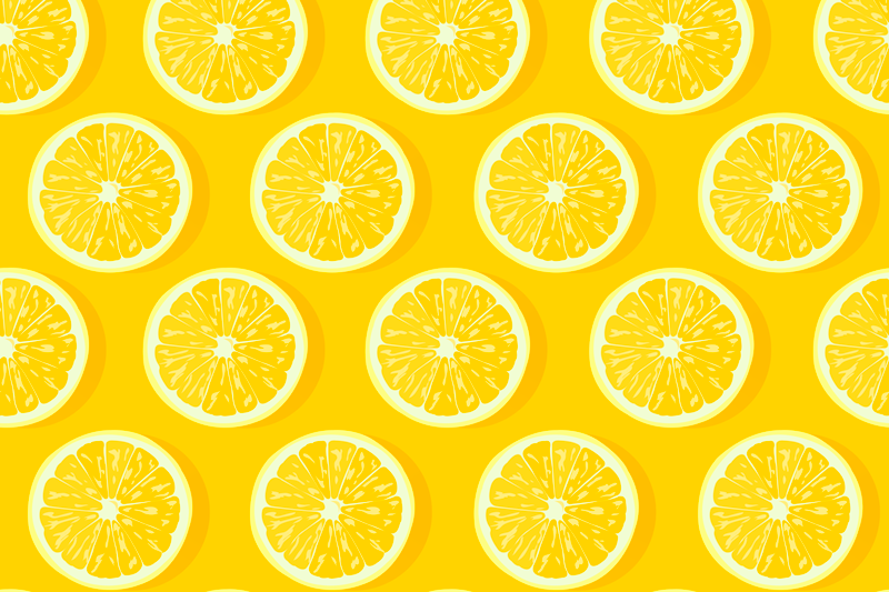 TenStickers. Sliced lemons citrus table mat. Sliced lemons vinyls place mats for home. It has very vivid colors which will give your household table that exotic touch.