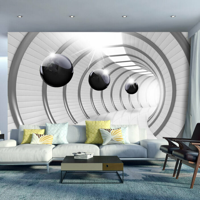 TenStickers. Futuristic Tunnel 3D Mural Wallpaper. Turn any room in your home into a futuristic wonderland with this awesome 3D visual effect wall mural. Worldwide delivery available!