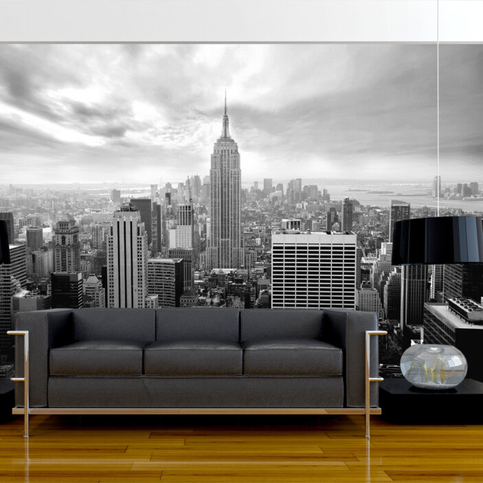 TenStickers. Vintage New York Wall Mural. Bring the beauty of New York City and to your home with this amazing vintage New York mural wallpaper. Worldwide delivery available!
