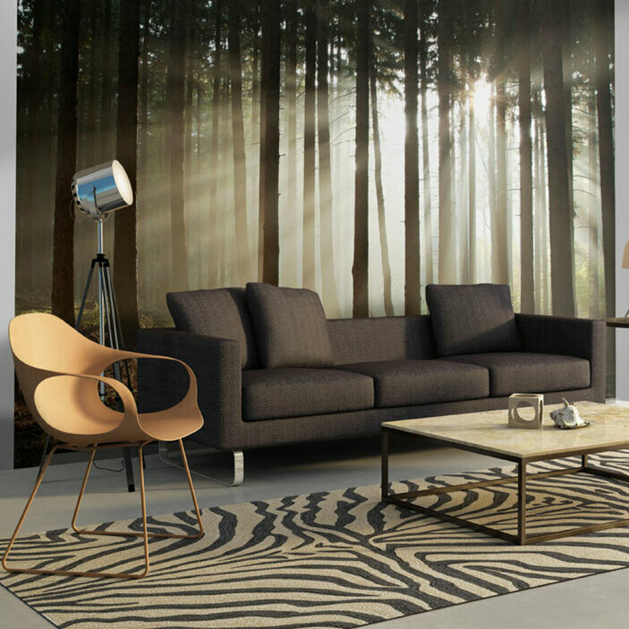 TenStickers. Forest Trees Wall Mural. Bring the beauty of nature and the outdoors indoors with this incredible forest wall mural. Free worldwide delivery available!