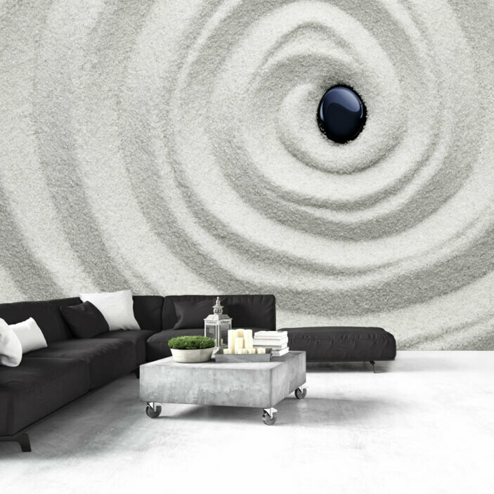 TenStickers. 3D Stone in Sand Wall Mural. Instantly turn your room into a work of art with this awesome 3D visual effect mural wallpaper. Worldwide delivery available!